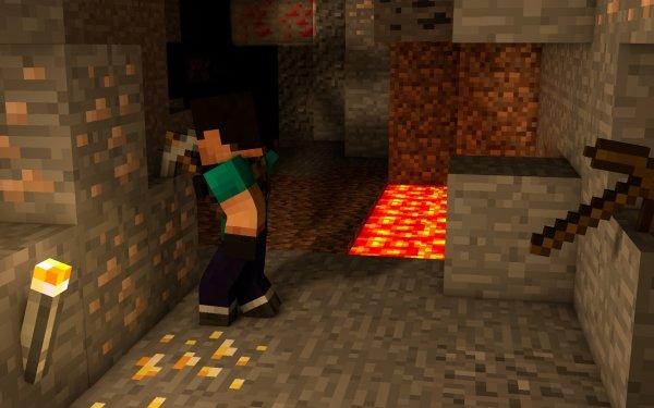 Videojuego Minecraft Mining Ore Mojang Fondo de pantalla HD | Fondo de Escritorio
