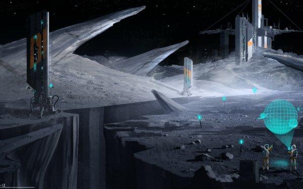 Sci Fi Moon HD Wallpaper   Background Image