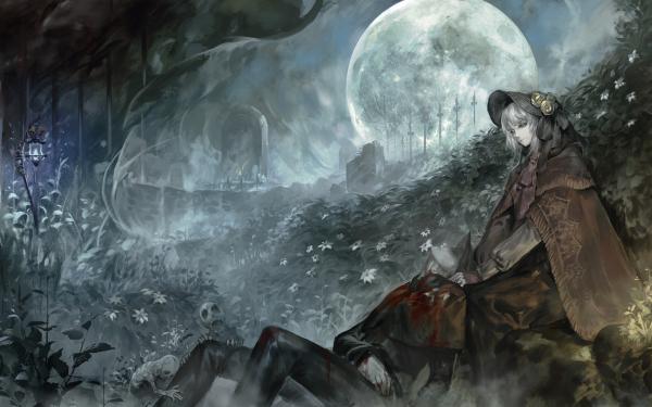 Videojuego Bloodborne Plain Doll Luna Gótico Fondo de pantalla HD | Fondo de Escritorio