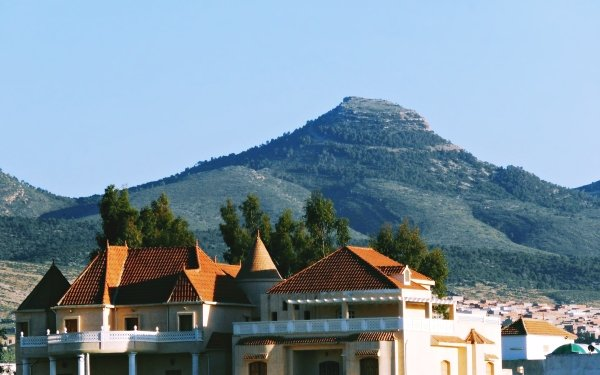 Photography Mountain Mountains Town Villa Algeria Tebessa Mountains HD Wallpaper | Background Image