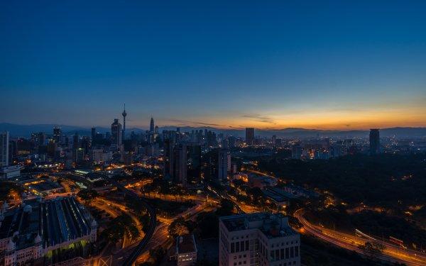 Man Made Kuala Lumpur Cities Malaysia Sunrise HD Wallpaper | Background Image
