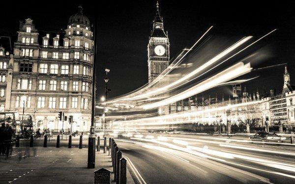Man Made Big Ben Monuments London Building Street Time-Lapse United Kingdom HD Wallpaper | Background Image
