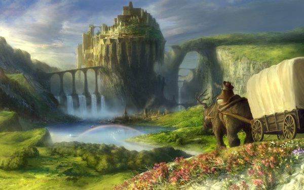 Fantasy City Original Landscape HD Wallpaper   Background Image