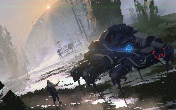 Sci Fi Spaceship HD Wallpaper   Background Image