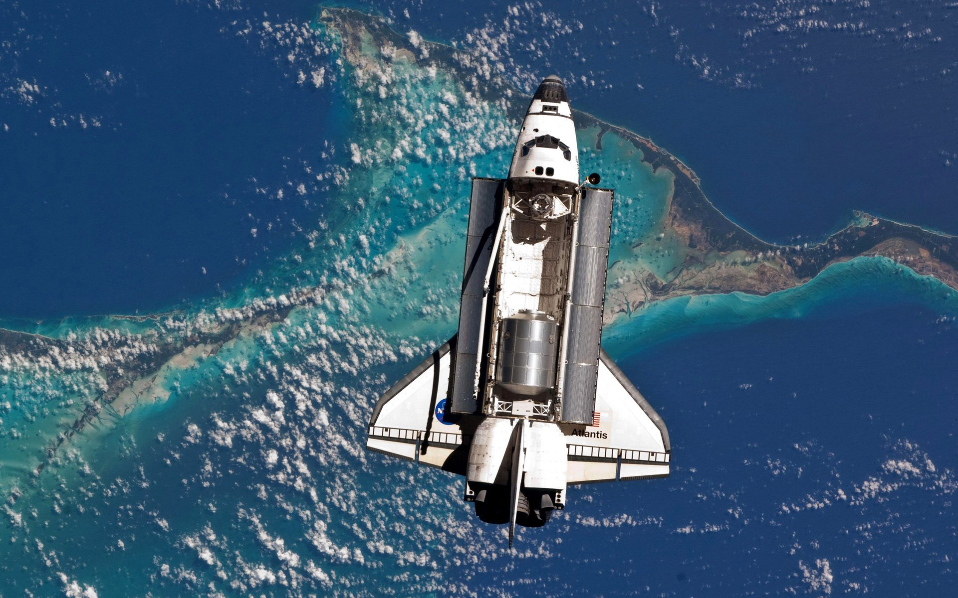 Vehicles - Space Shuttle atlantis  From Space NASA Space Space Shuttle Wallpaper