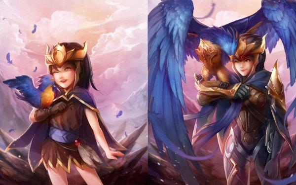 Video Game League Of Legends Quinn Valor Bird HD Wallpaper | Background Image