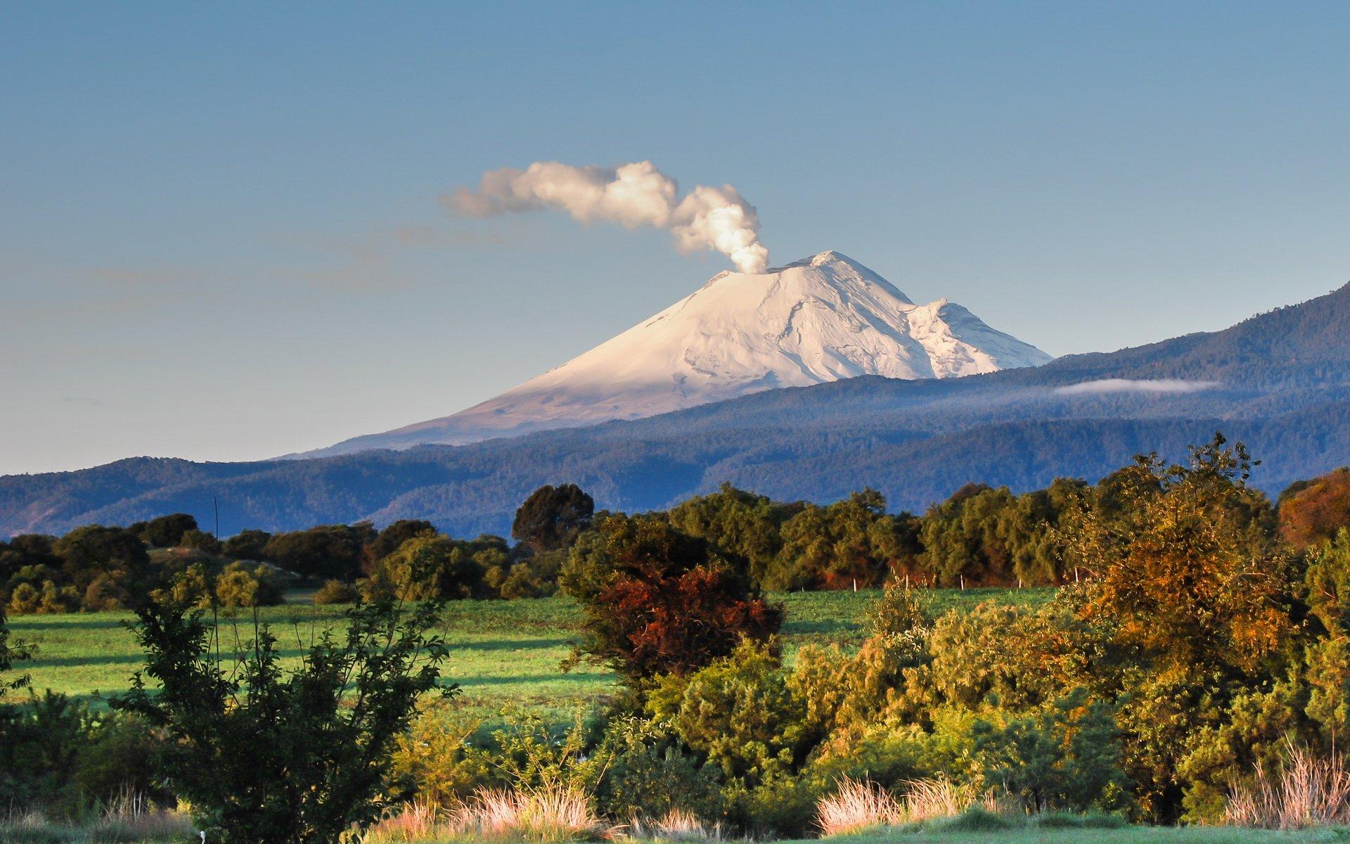 自然 - Popocatépetl  Peak Eruption 火山 墨西哥 壁纸