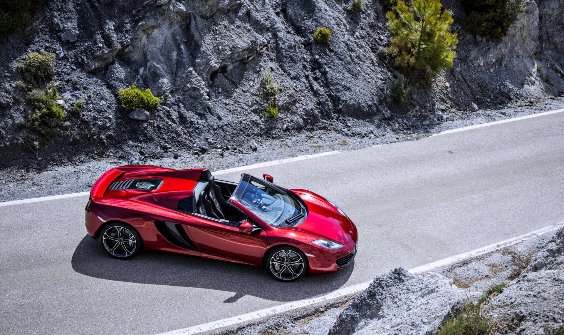 Vehicles - McLaren MP4-12C Spider  Car Supercar McLaren Red Car Vehicle McLaren 12C McLaren MP4-12C Wallpaper