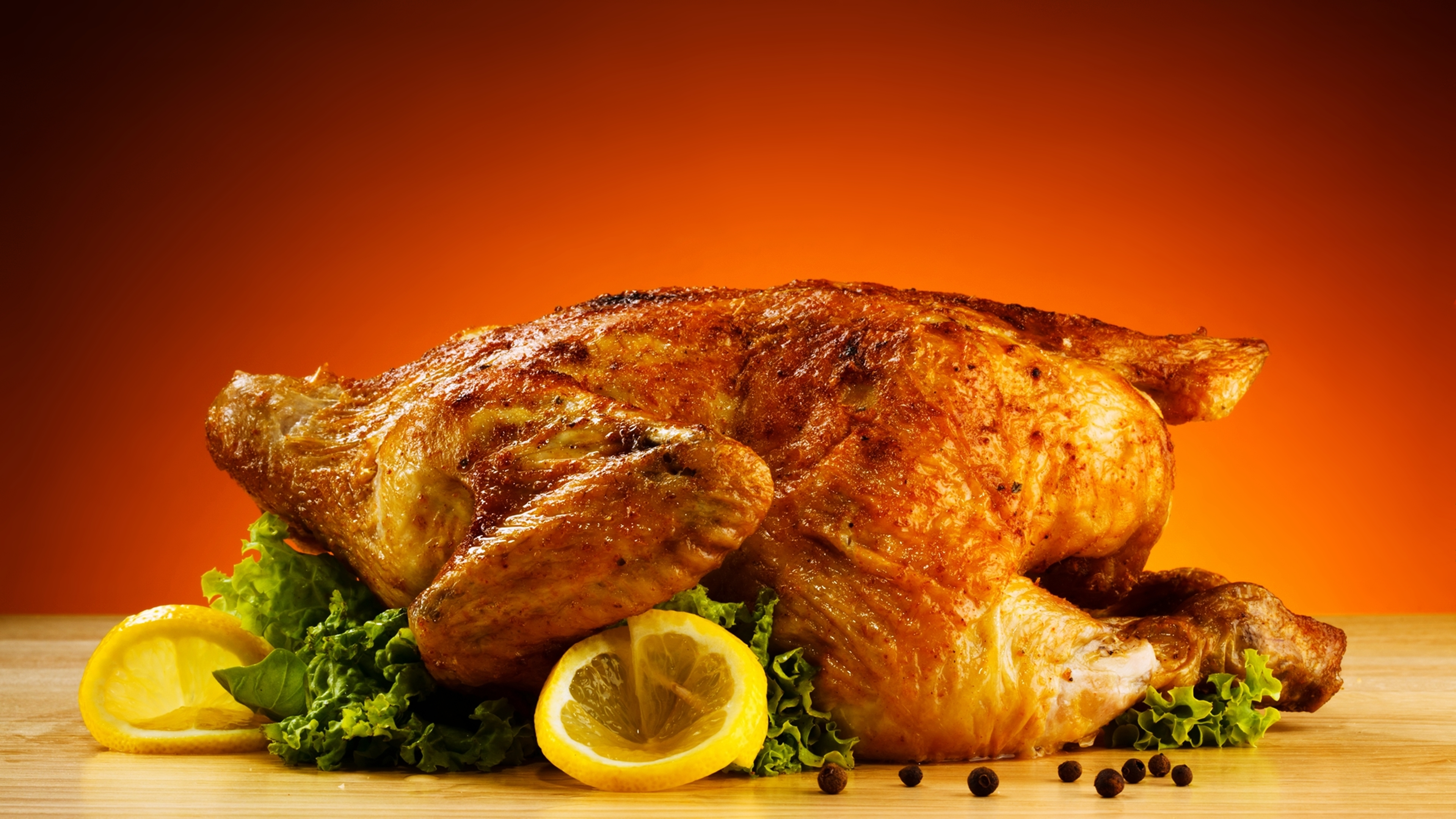 Roast Chicken 4k Ultra Fondo De Pantalla Hd Fondo De