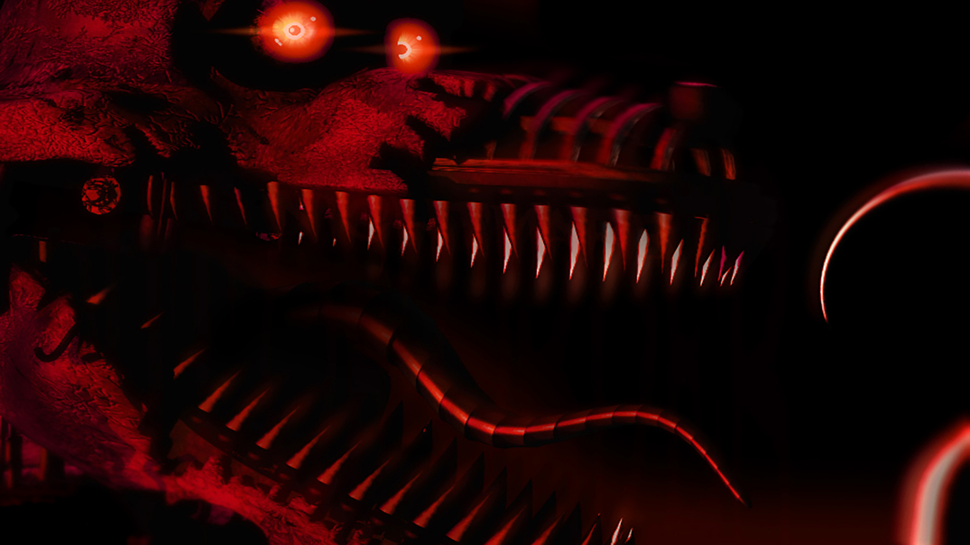 Nightmare Foxy Wallpaper [C4D] by YinyangGio1987 on DeviantArt