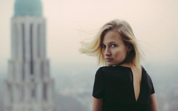 Women Model Models Woman Blonde Brown Eyes Rear HD Wallpaper | Background Image
