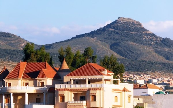 Photography Landscape Algeria Mountain Villa House Tebessa Mountains HD Wallpaper | Background Image