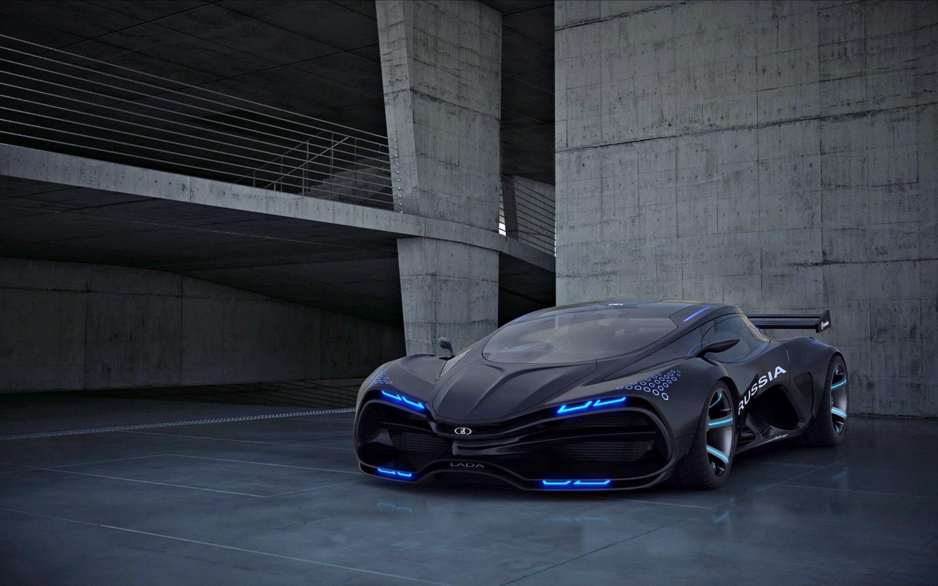 Vehicles - Lada Raven  Black Car Car Supercar Wallpaper