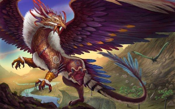 Fantaisie Griffon Animaux Fantastique Mythlogical Creature Wings Fond d'écran HD | Arrière-Plan