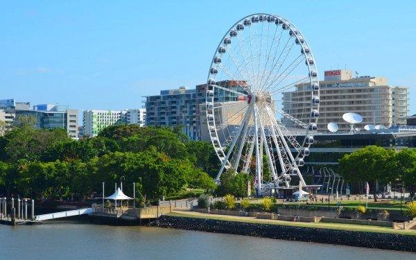 Man Made Ferris Wheel Brisbane Queensland Building Park Wheel Of Brisbane HD Wallpaper | Background Image