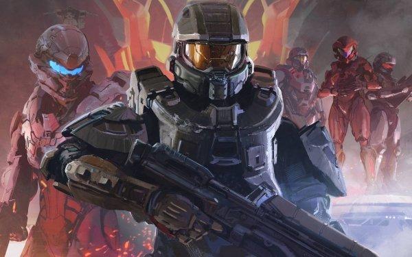 Videospel Halo 5: Guardians Halo Master Chief HD Wallpaper | Achtergrond