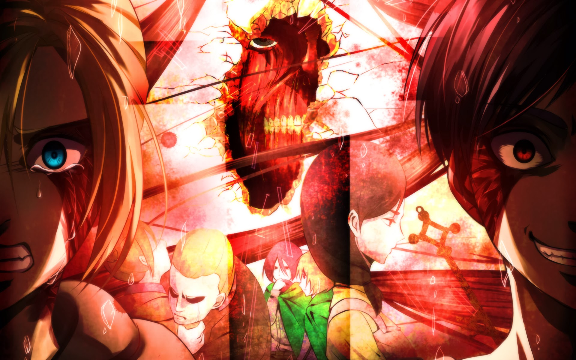 Annie Leonhart And Eren Yeager Hd Wallpaper Background Image