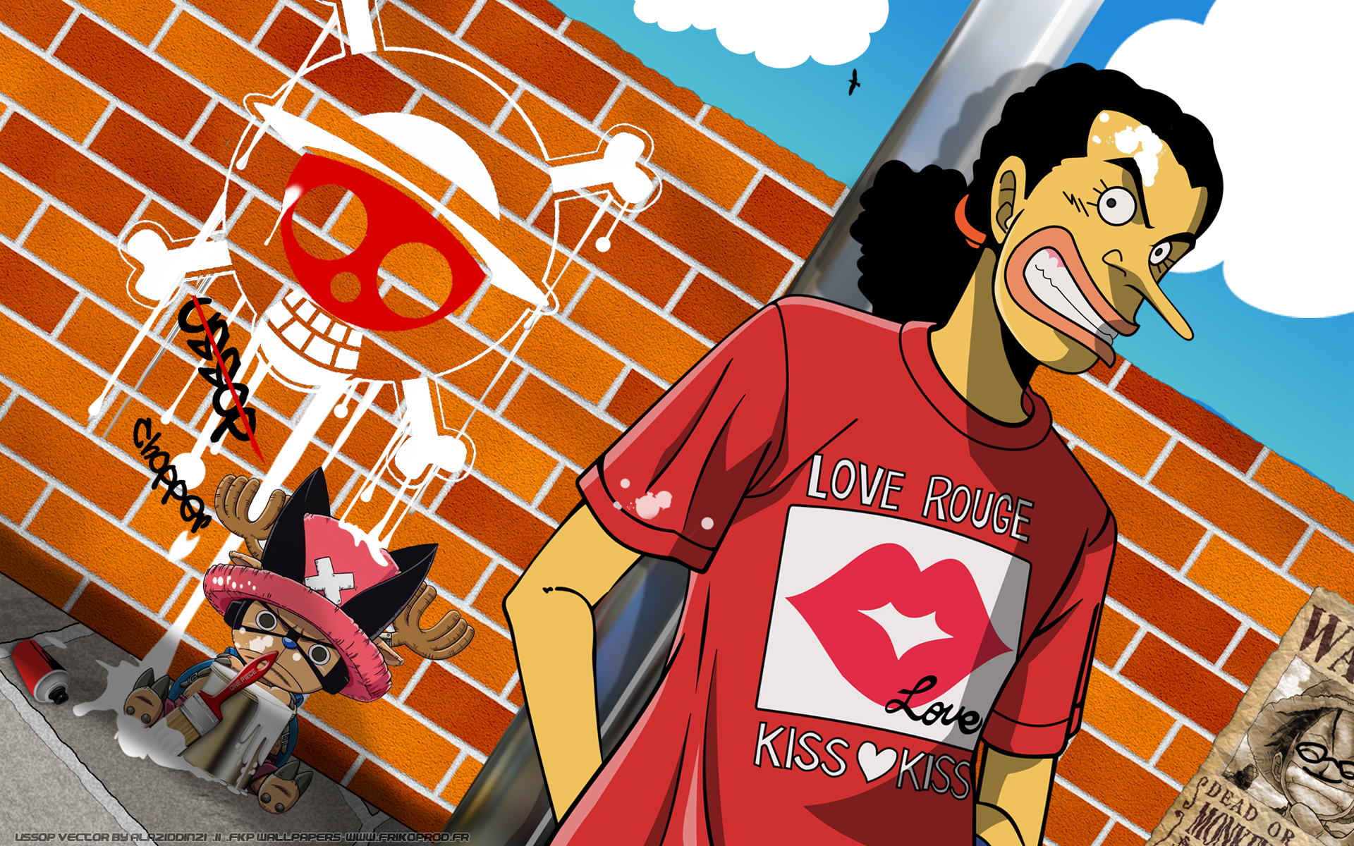Usopp And Chopper Hd Wallpaper Background Image 1920x1200 Id 606302 Wallpaper Abyss