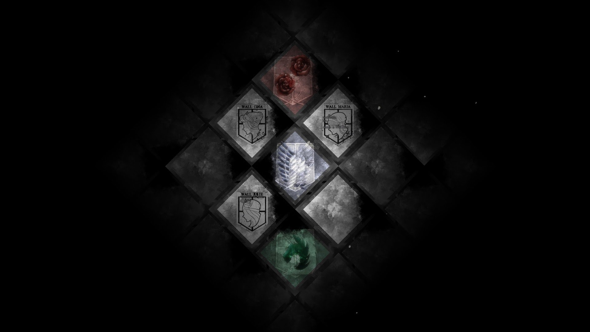 Attack On Titan Emblem Hd Wallpaper Background Image 1920x1080 Id 606211 Wallpaper Abyss