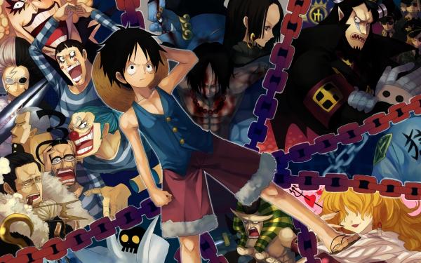 Anime One Piece Monkey D. Luffy Portgas D. Ace Boa Hancock Jinbe Baggy Crocodile HD Wallpaper | Background Image