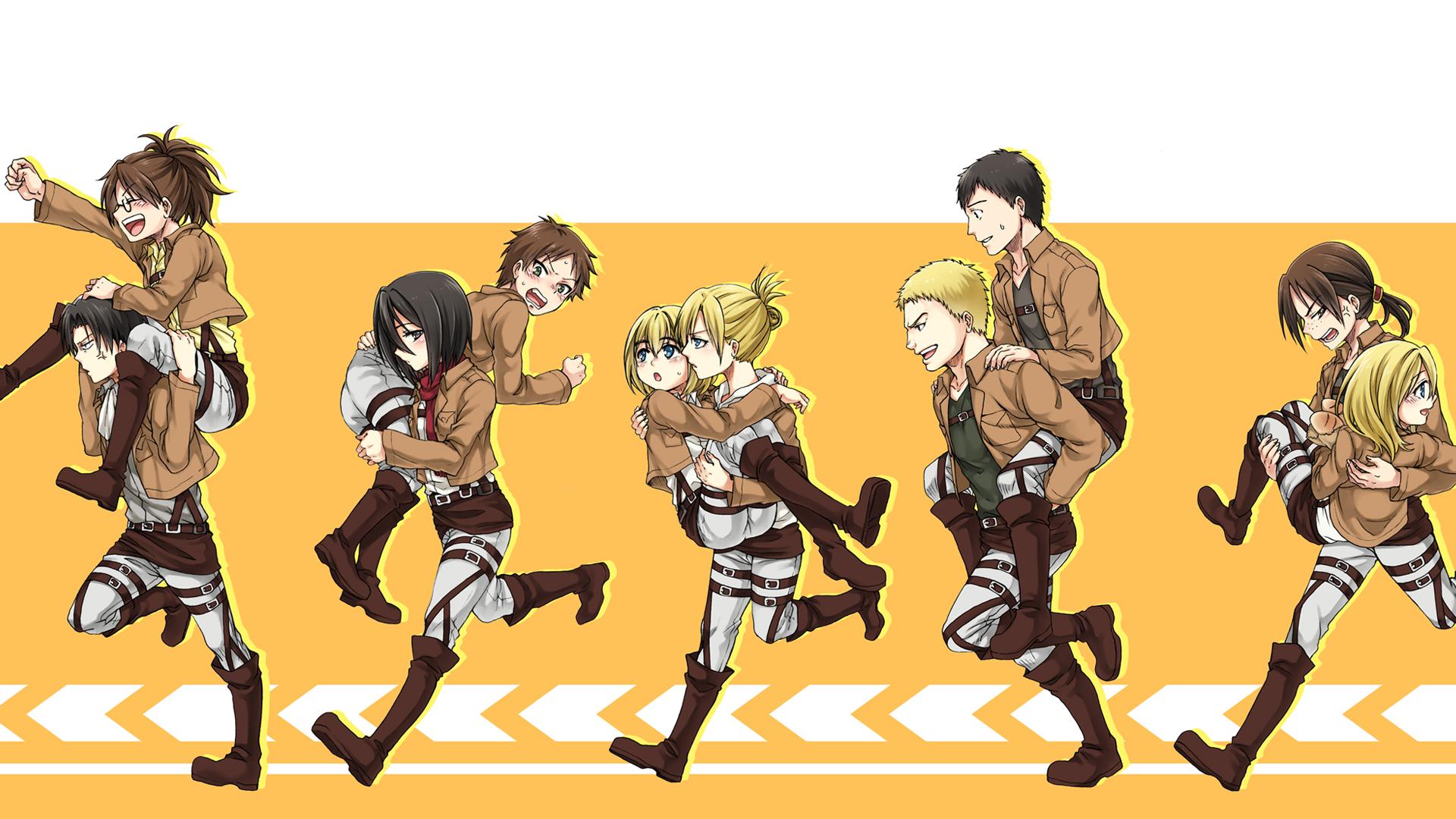 Anime - Attack On Titan  Shingeki No Kyojin Historia Reiss Sasha Blouse Reiner Braun Bertolt Hoover Annie Leonhart Armin Arlert Levi Ackerman Hange Zoë Eren Yeager Mikasa Ackerman Wallpaper
