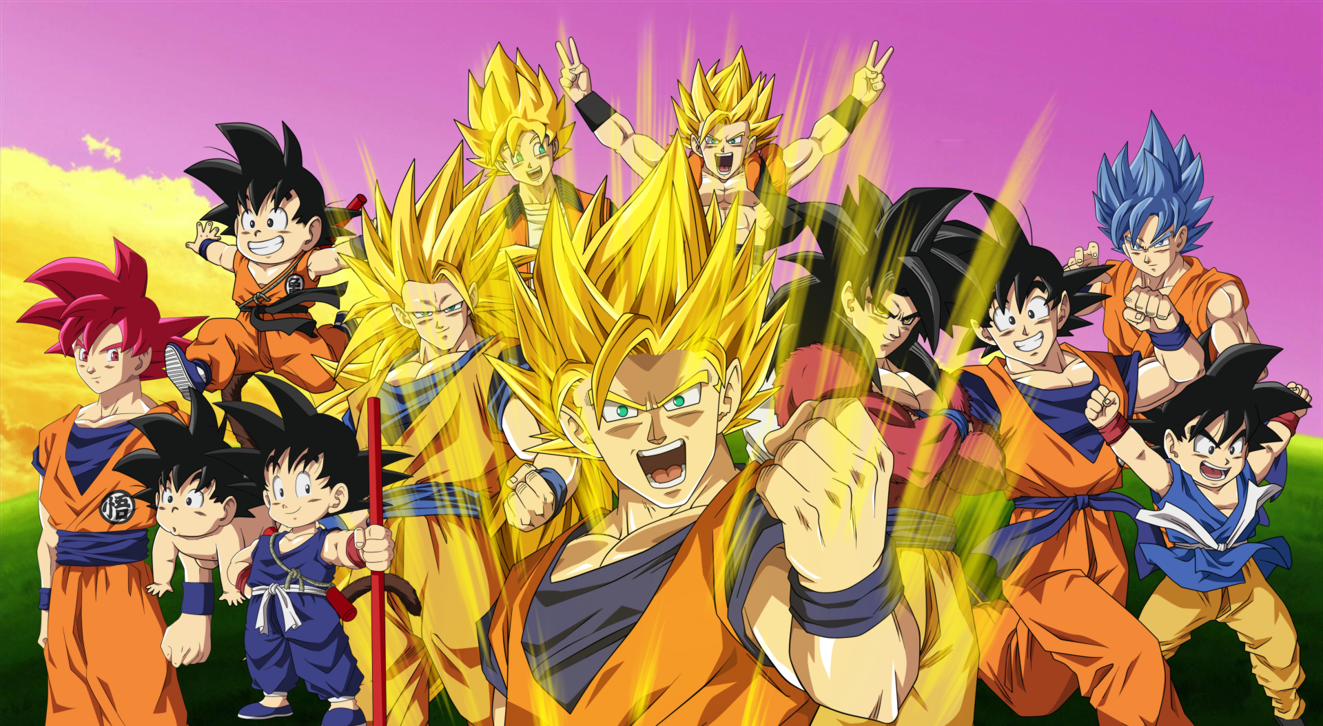 Anime - Dragon Ball Z  Super Saiyan Goku Dragon Ball Anime Wallpaper