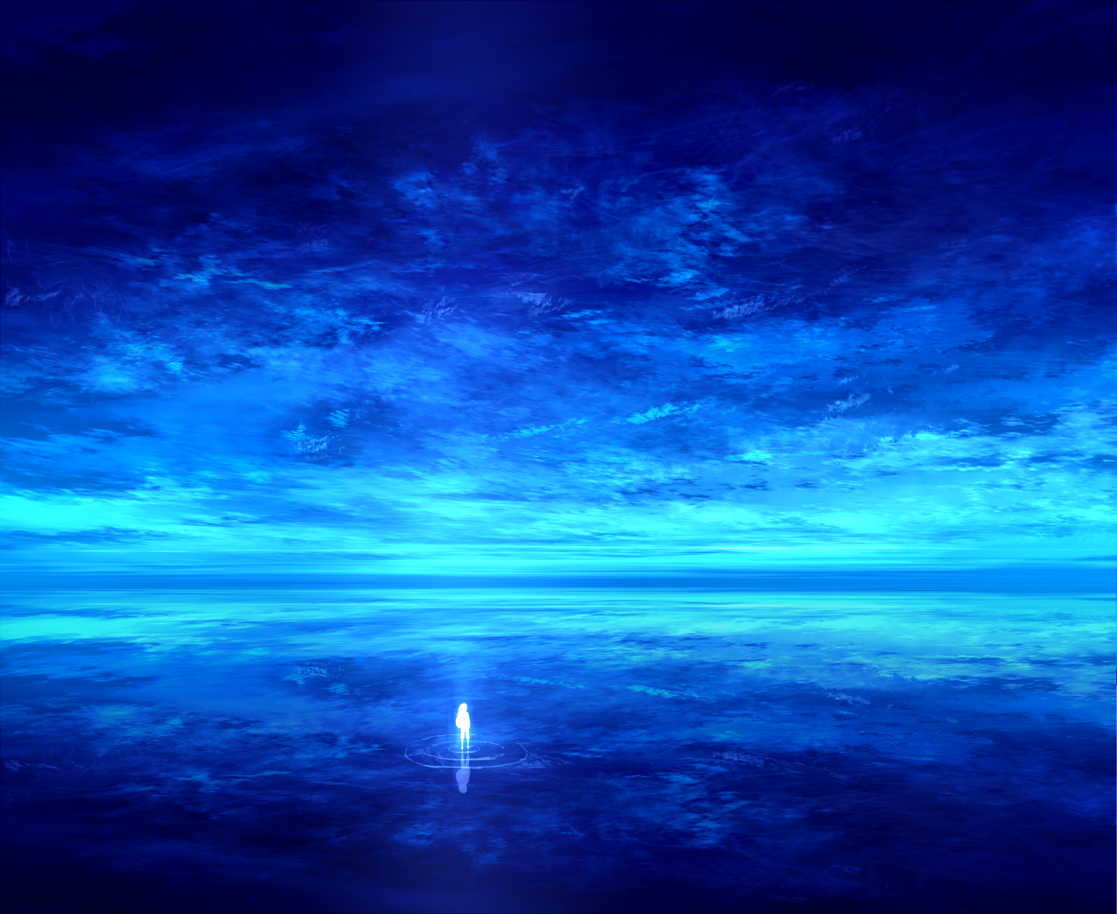 Small in a so vast univers wallpaper and background image - Blue anime wallpaper ...