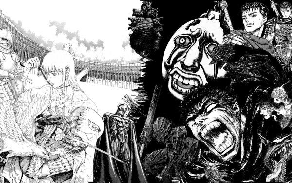 Anime Berserk Griffith Guts Beherit Femto Schierke HD Wallpaper   Background Image