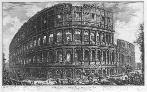 Artistic Drawing Colosseum Rome HD Wallpaper | Background Image