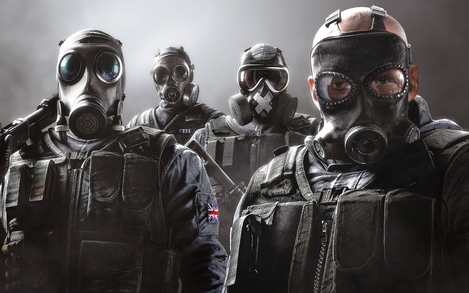 Video Game - Tom Clancy's Rainbow Six: Siege  Sledge (Tom Clancy's Rainbow Six: Siege) Smoke (Tom Clancy's Rainbow Six: Siege) Mute (Tom Clancy's Rainbow Six: Siege) Thatcher (Tom Clancy's Rainbow Six: Siege) Wallpaper