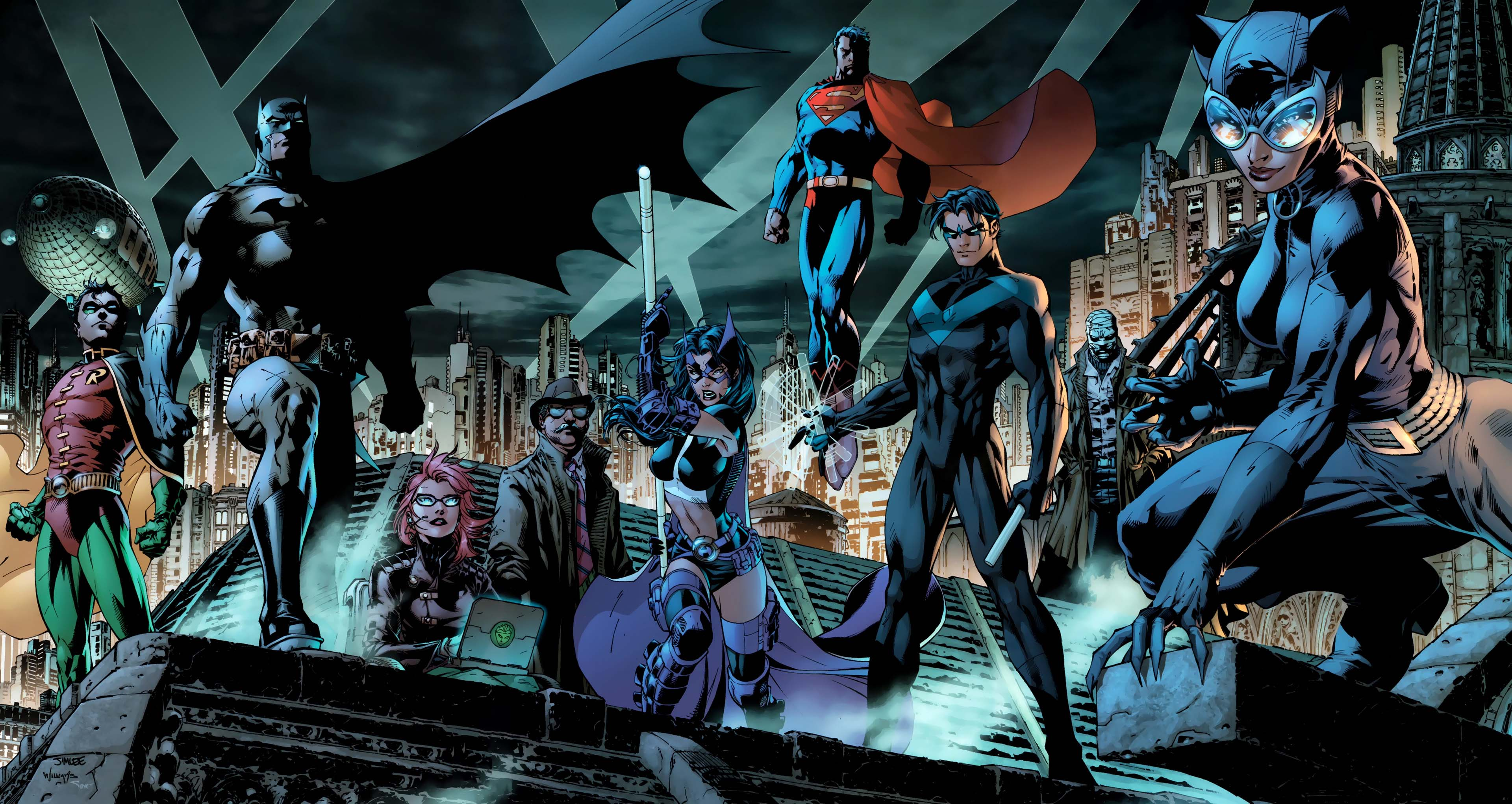 Dc comics full hd wallpaper and background image 3840x2042 id621197 comics dc comics robin dc comics batman superman nightwing catwoman huntress dc voltagebd Images