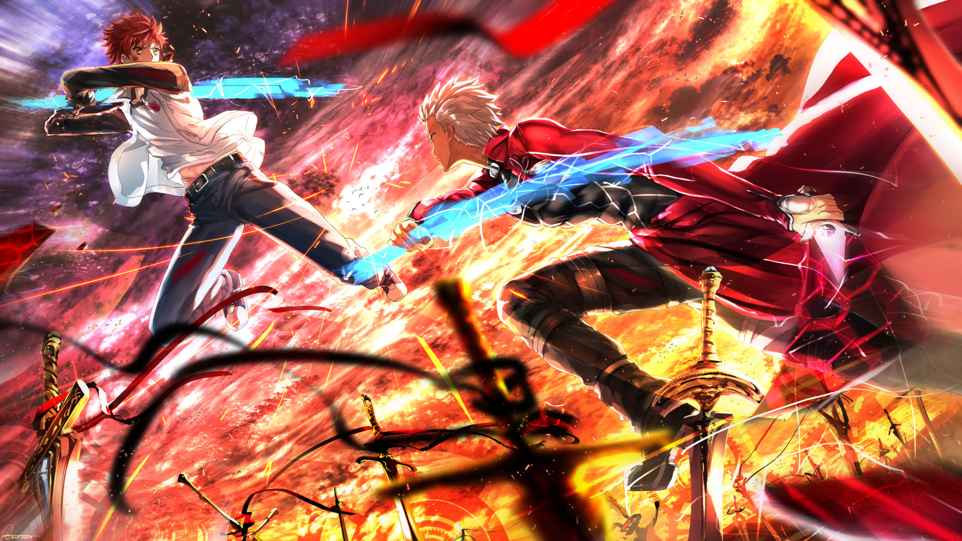 fate/stay night: unlimited blade works hd wallpaper | background