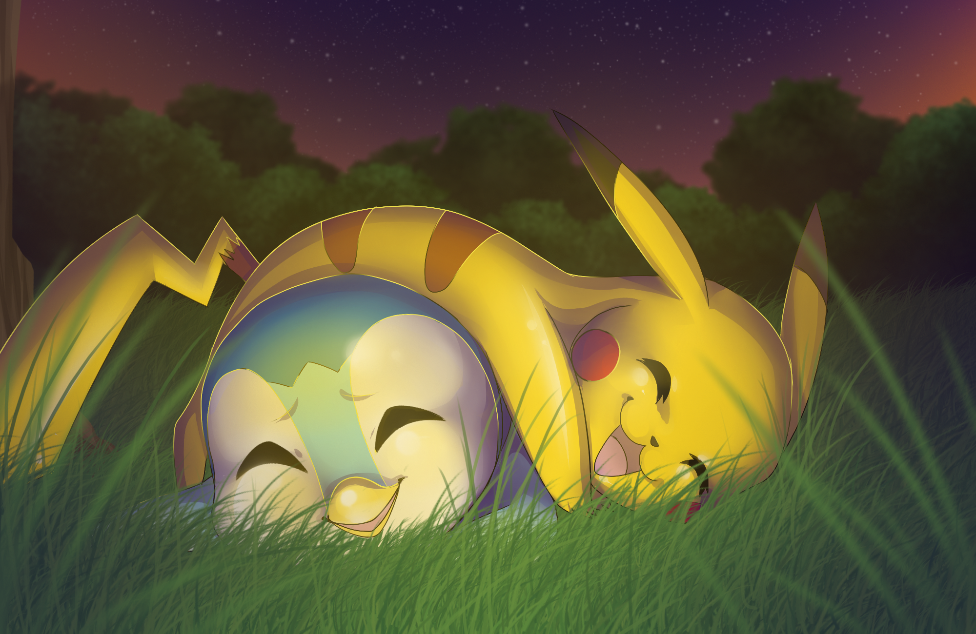 Pikachu And Piplup HD Wallpaper