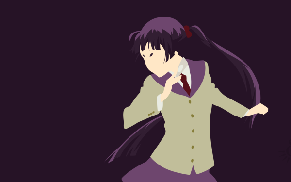 Anime Blue Exorcist Ao No Exorcist Izumo Kamiki Purple Hair Twintails Long Hair Minimalist HD Wallpaper | Background Image