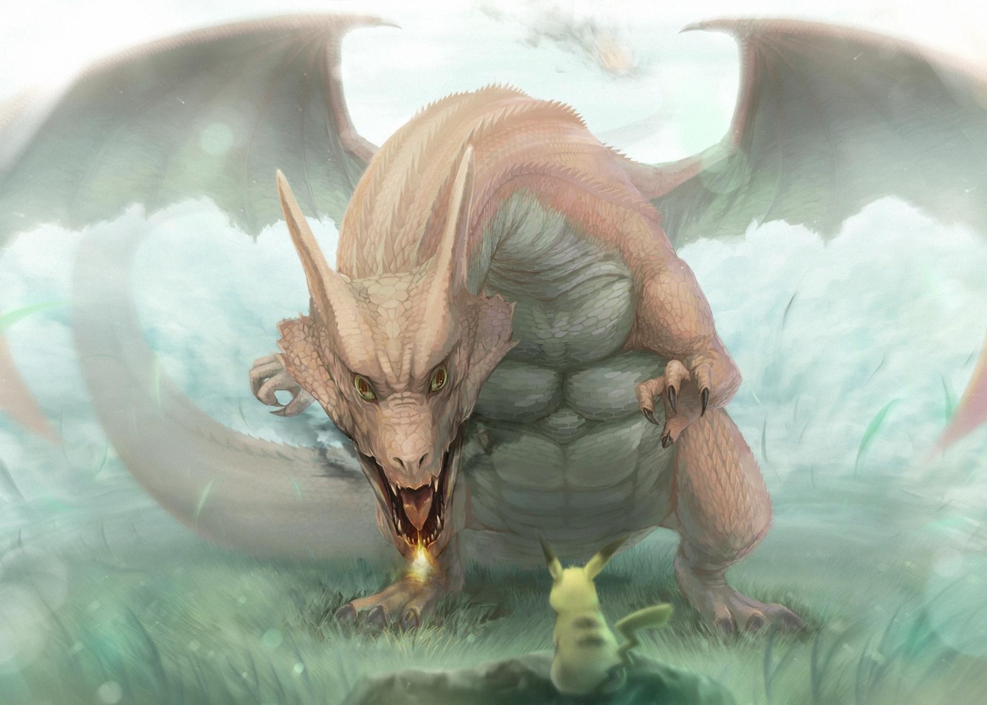 Charizard and Pikachu Fond d'écran HD   Arrière-Plan ... Realistic Pokemon Charizard