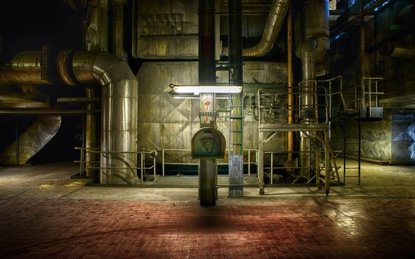 Man Made Power Plant Telephone Factory Abandoned Industrial HD Wallpaper | Background Image
