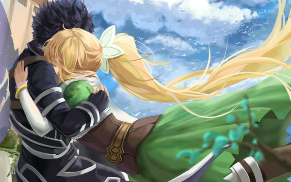 Anime Sword Art Online Suguha Kirigaya Kirito Leafa Kazuto Kirigaya HD Wallpaper | Background Image