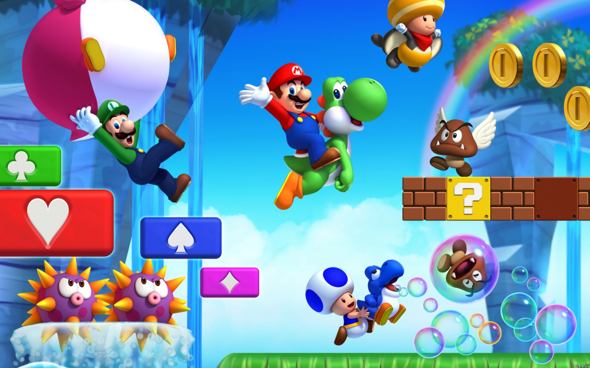 mario and co full hd wallpaper and background image