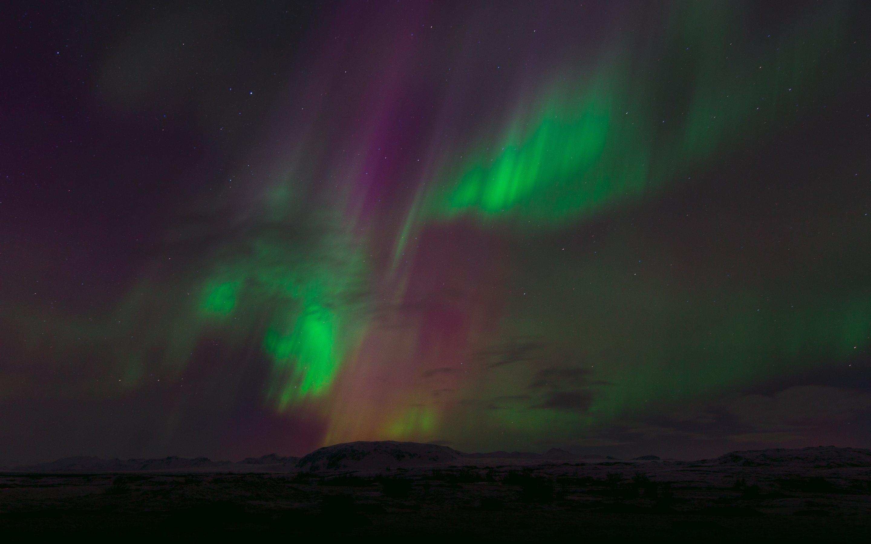 The aurora borealis light show sfondi per pc 2880x1800 for Aurora boreale sfondo