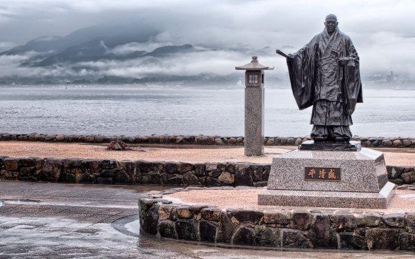 Man Made Taira no Kiyomori Statue Miyajima Island HD Wallpaper   Background Image