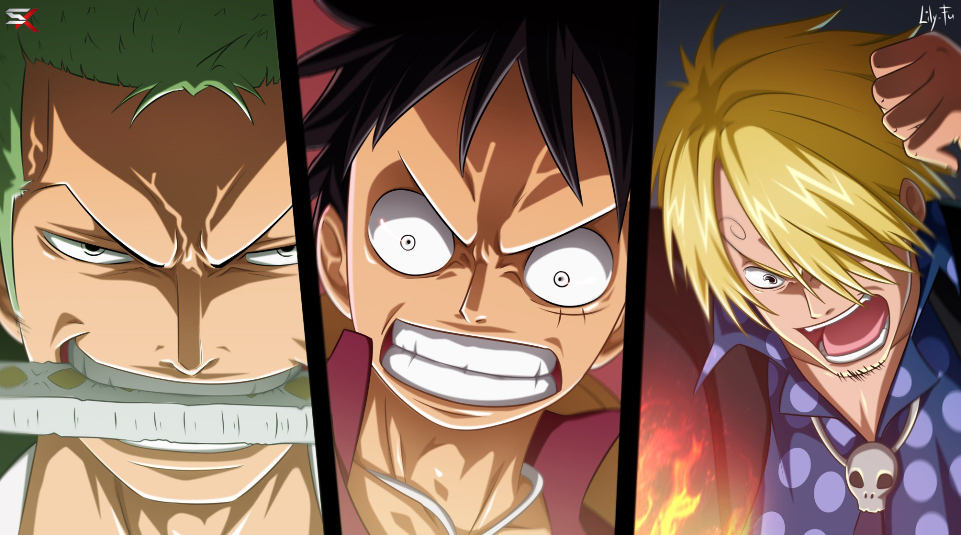Anime - One Piece  Monkey D. Luffy Sanji (One Piece) Zoro Roronoa Wallpaper
