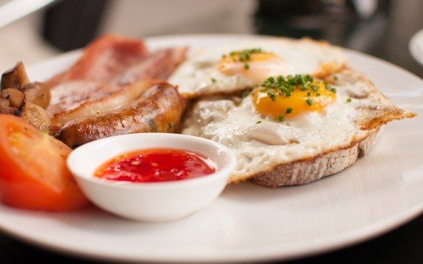 Food Breakfast Egg Tomato Meal HD Wallpaper | Background Image