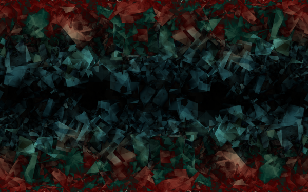 Abstract Artistic Red Green Blue Dark Crystal HD Wallpaper   Background Image