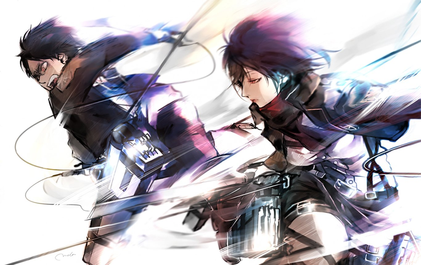 Eren And Mikasa Wallpaper And Background Image 1366x861 Id 653492 Wallpaper Abyss