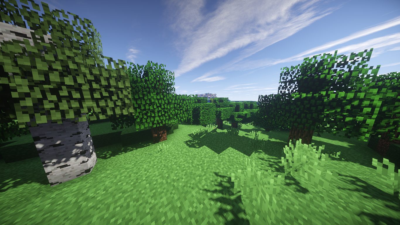 Minecraft Forest Papel De Parede And Planos De Fundo 1366x768 Id