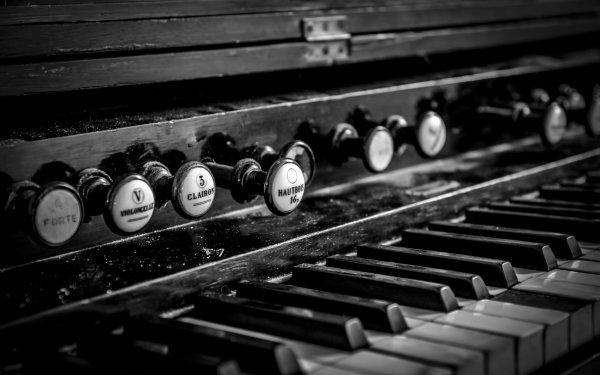 Music Piano Black & White HD Wallpaper | Background Image