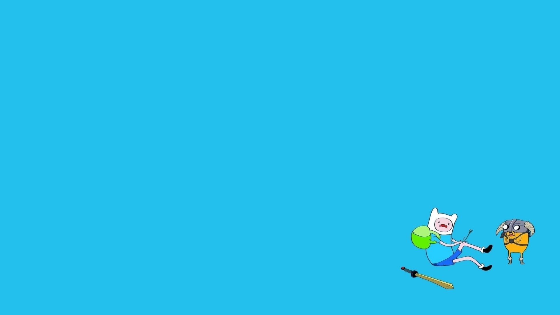 adventure time blue background - photo #17