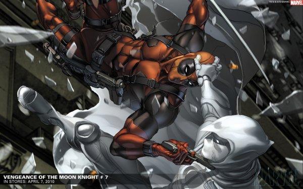 Comics Deadpool Merc with a Mouth Caballero Luna Fondo de pantalla HD | Fondo de Escritorio
