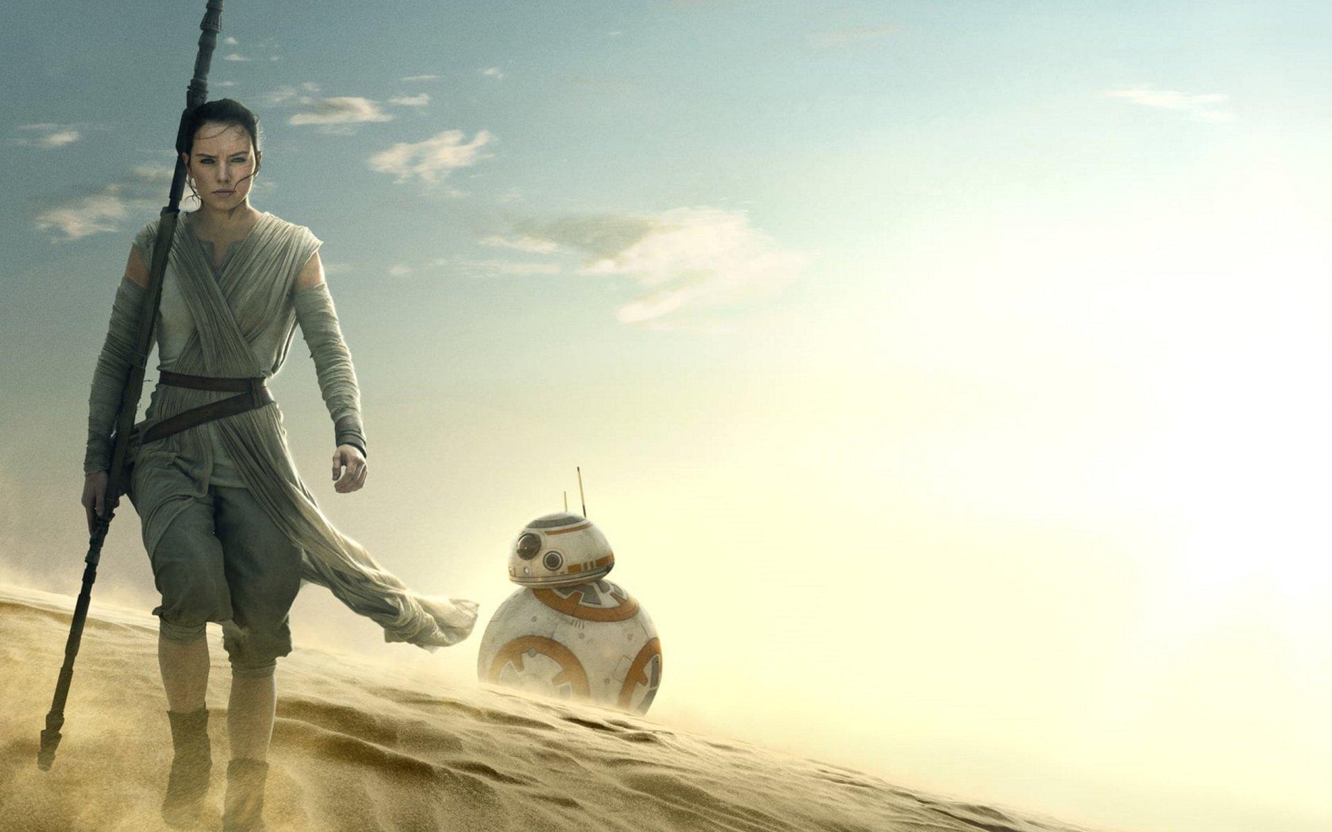 Movie - Star Wars Episode VII: The Force Awakens  Daisy Ridley Rey (Star Wars) BB-8 Star Wars Wallpaper