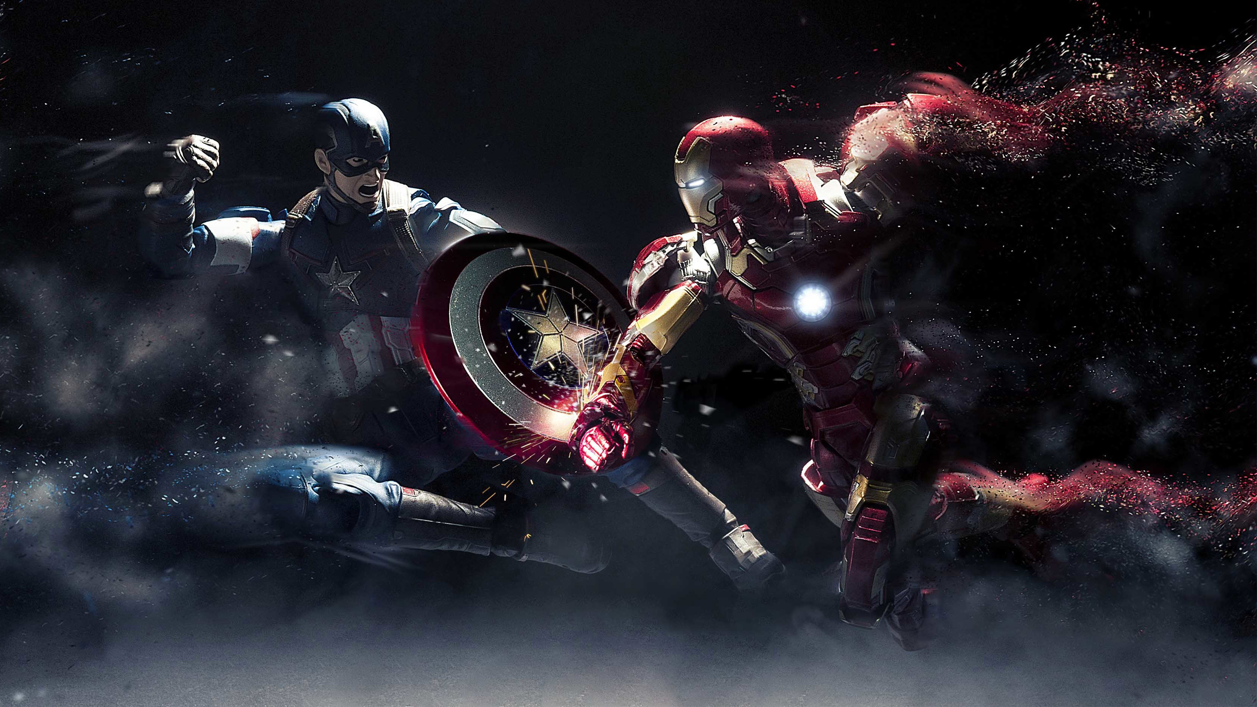 captain america vs iron man wallpaper  86 Captain America: Civil War HD Wallpapers | Background Images ...